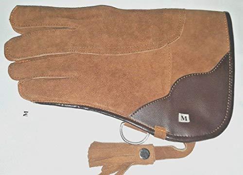 Altawash Falknerie-Handschuh, Wildleder, doppellagig, 30,5 cm lang, Hellbraun