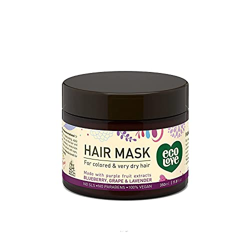 ecoLove - Deep Conditioning Hair Mask for Dry Damaged Hair &...