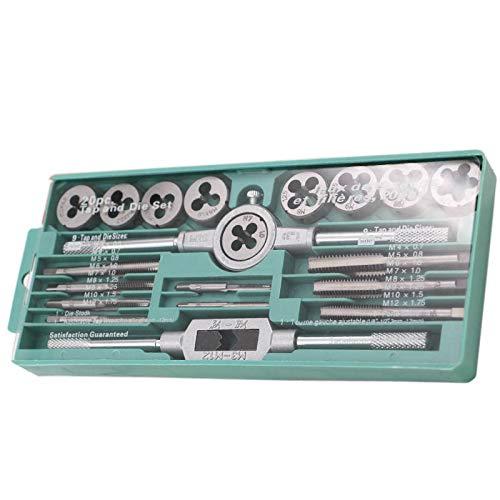 Gereedschap Set Tap En Die Set Handdraad Tappen Hardware Moersleutel Hand Metrisch Tappen Set 20 Stks Kleine Huishoudelijke Toolkittool Boxen