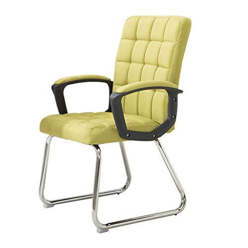 Chaise de bureau en similicuir haute résilience coussin en éponge ordinateur personnel à la maison réunion du siège des étudiants pour discuter du dossier chaise/vert/charge maximale 150 kg