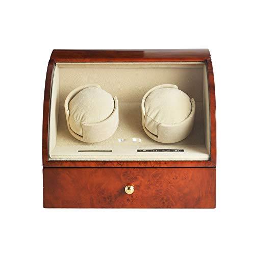 Jlxl Doble Enrollador Reloj con Motores Duales Dobles, Exterior Pintura Piano Concha Madera Pantalla Táctil LED, 5 Modos Rotación, para Relojes Todos Los Tamaños Accesorios (Color : C)