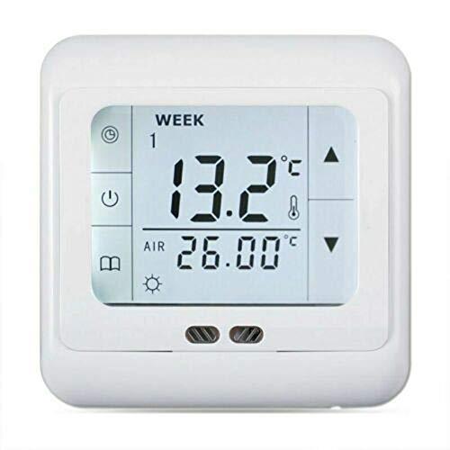 Digital Thermostat Raumthermostat Fußbodenheizung Wandheizung LED weiß 16A…