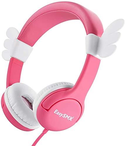 XXT Auriculares para niños y niñas con volumen limitado, auriculares ajustables de 3,5 mm para iPod, iPad, iPhone, teléfono móvil, tableta, PC MP3 MP4