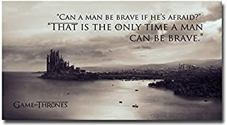 posterfans Tomorrow sunny Game Of Thrones King's Landing Motivational Quotes Silk Poster 24x36
