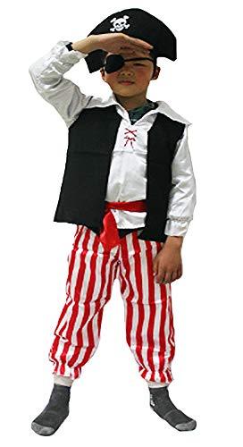 Forever Young Boys Disfraz de Pirata Niño Niño Niños Disfraces Disfraz Pirata caribeño Capitán Buccaneer 5-6 años