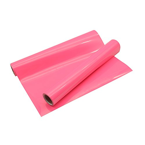 Heat Transfer Vinyl Roll Neon Pink HTV 10x5FT for T-Shirts