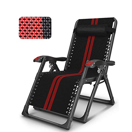 WMQ Silla Zero Gravity, Soporte 880 LB L, sillón reclinable para Patio, Asiento Extra Ancho de 26 Pulgadas con reposacabezas, Playa, jardín, Camping, hogar y Oficina