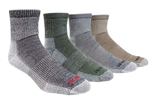Super-Wool Hiker GX Low-cut Hiking Socks (3 Pairs) (Large (8-12 Shoe), Olive)