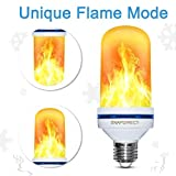 LED Flame Effect Light Bulb - 2018 Upgrade Upside Down Flickering Simulated Fire Bulb Vintage Decorative Lighting For Halloween Home/Hotel/Bar Party Decoration( 1 pack/1 Mode: Flicker Only)