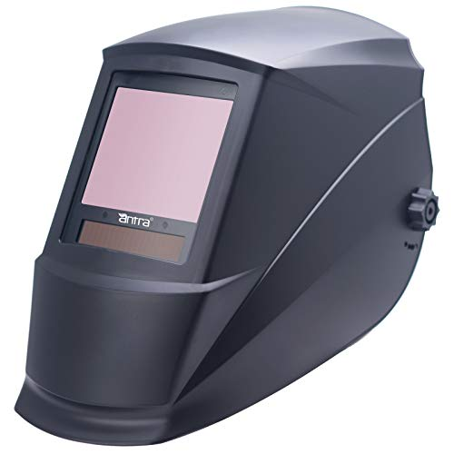Antra True Color Top Optical Class 1/1/1/1 Wide Shade range 3/5-14 Auto Darkening Welding Helmet DP9-1 TIG MIG/MAG MMA Plasma Grinding Solar-Lithium Dual Power 6+1 Extra lens covers