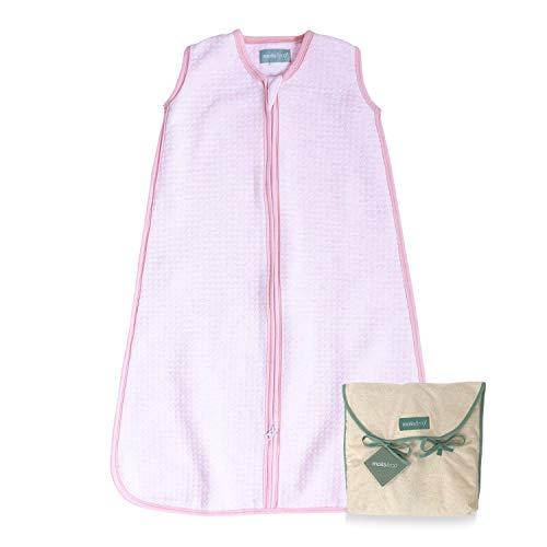 molis&co. Saco de Dormir para bebé. Ideal para Entretiempo. 1.0 TOG. Candy - Rosa. 6 a 18 Meses. Suave y Acogedor. 100% algodón orgánico, Ligeramente Acolchado.