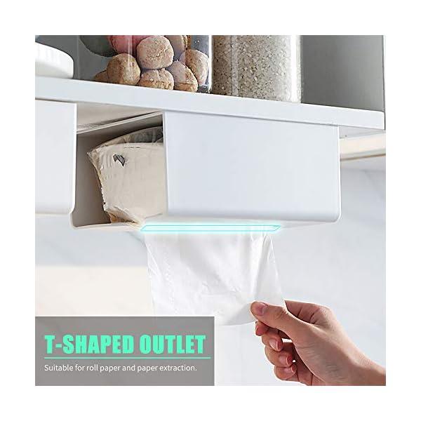 Festnight Dispensador de pañuelos de papel para pared, no necesita taladrar,