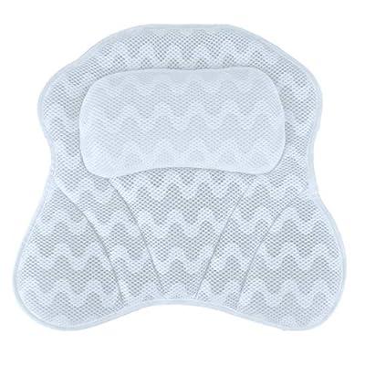 iFCOW Bath Pillow for Tub, 3D Air Mesh Spa Bath...