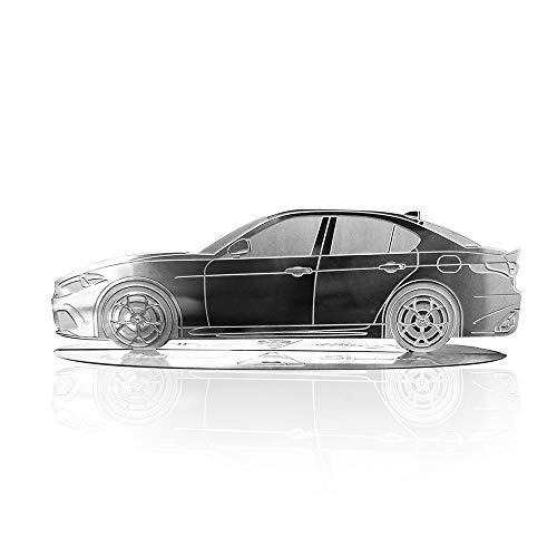 4R Quattroerre.it 11200 - Maqueta grabada para coche Alfa Romeo Giulia de acero inoxidable