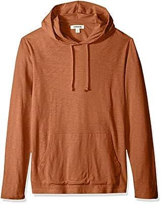 Goodthreads Men's Lightweight Slub T-Shirt Hoodie, rust, X-Large Tall
