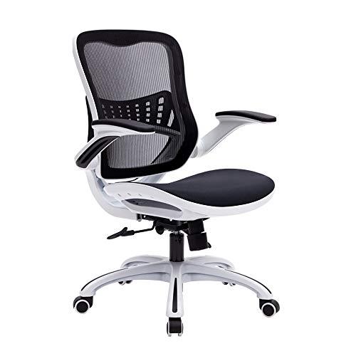 LSX - Stuhl Drehstuhl, Verstellbarer ergonomische Designer Taille Netto-Bürocomputer Sessel, in Zwei Farben und Stilen Büro (Color : Full mesh, Size : White)