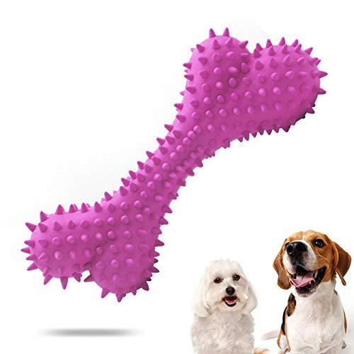 Sunshine smile Kauspielzeug Hund, Hundezahnbürste Hunde, Hundespielzeug Knochen, Hundezahnbürste Kauspielzeug, Zahnreinigung Hund Spielzeug, Interaktives Spielzeug Für Hunde (Rosa)