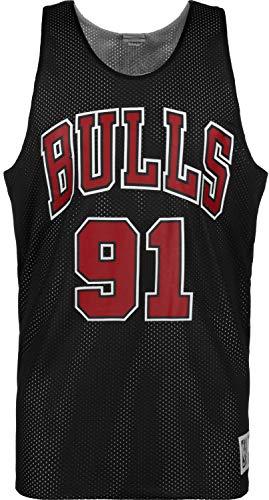 Mitchell & Ness NBA Reversible Mesh Tank Chicago Bulls Dennis Rodman #91 Black/White XL