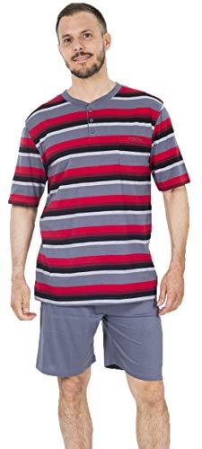 MUSLHER Pijama Hombre de Verano listado (M