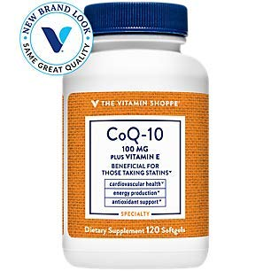 The Vitamin Shoppe CoQ10 Plus Vitamin E 100MG, Supports Cardiovascular, Energy Production Cellular Health (120 Softgels)
