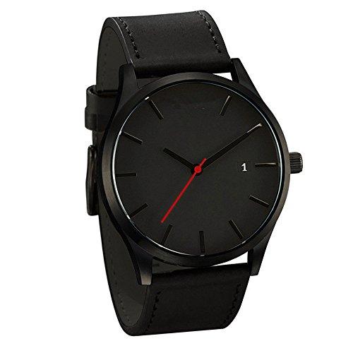Robemon Mode Klassisch Unisex Damenuhren Herrenuhren Rundem Zifferblatt 24Cm Bandlänge Armbanduhren Für Frauen Mode Armbanduhren Für Damen Leder
