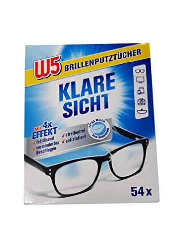 Un pacchetto con 54 salviette per pulizia degli occhiali / occhiali