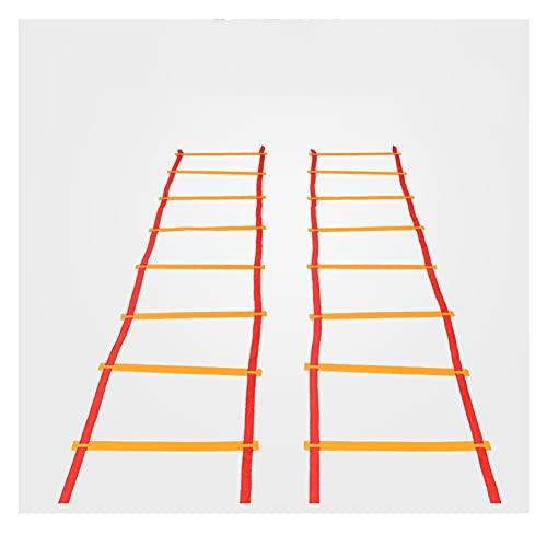 GXN Niños Escalera de fútbol Flexibilidad Acompañamiento de la Velocidad Fitness Salto Escalera con peldaños Planos para béisbol de Tenis de fútbol 3M / 4M / 5M / 6M (tamaño : 6m)
