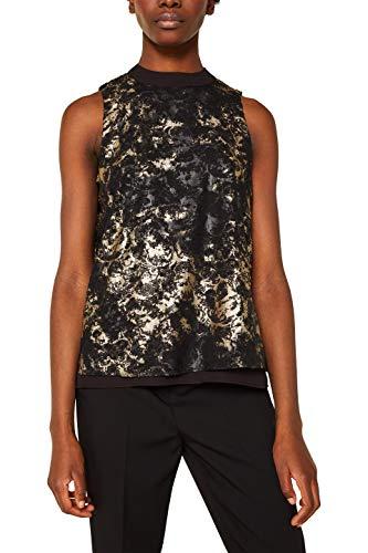 ESPRIT Collection Damen 119EO1F009 Bluse, 001/BLACK, (Herstellergröße: 34)