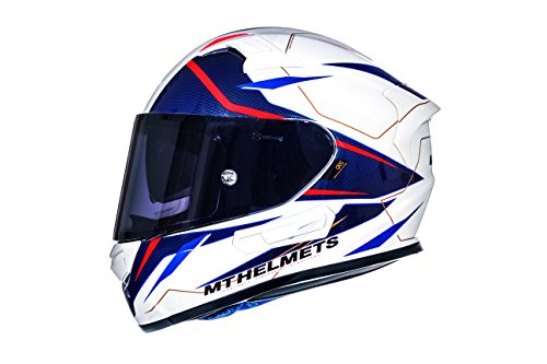 Casco Mt Helmeth KRE SV INTREPID B2 Brillo Blanco y Rojo (L)