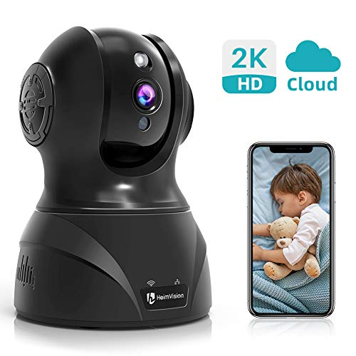 HeimVisiom 2K HD Security Camera, 3MP Wireless IP Home Camera HM302 WiFi Indoor Pet Baby Monitor with Night Vision, 2-Way Audio, Face/Motion/Sound Dection Alerts&Cloud Storage, Works with Alexa