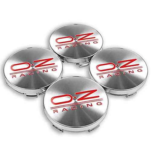 TTXS 4pcs 60mm OZ O.Z Racing Wheel Center Hub Tapas emblema de coche insignia Logo rueda centro tapa para Volkswagen Golf Polo SKODA CRUZE Hubcap OZsilverRed60mm