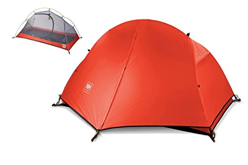 Soomloom 1人用 ULTRA LIGHT テント4シーズン サイクリング登山 トレッキング 用 ダブルウォーム式 紫外線防止 豪雨まで防止可能