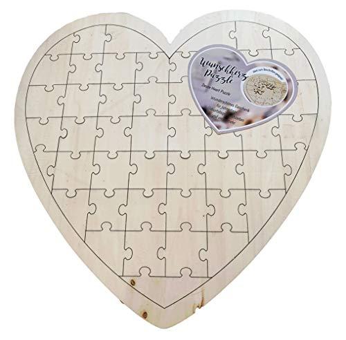 Cepewa puzzel wenshart bruiloft gastenboek verjaardagskaart hart hout natuur 49 delen