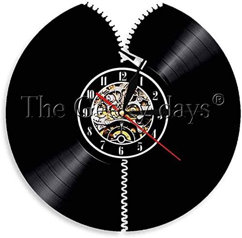 ZZLLL Reloj de Pared de Vinilo salón de peluquería Canina Disco de fonógrafo de Vinilo Reloj de Pared Tijeras Peine Colgante de Pared decoración