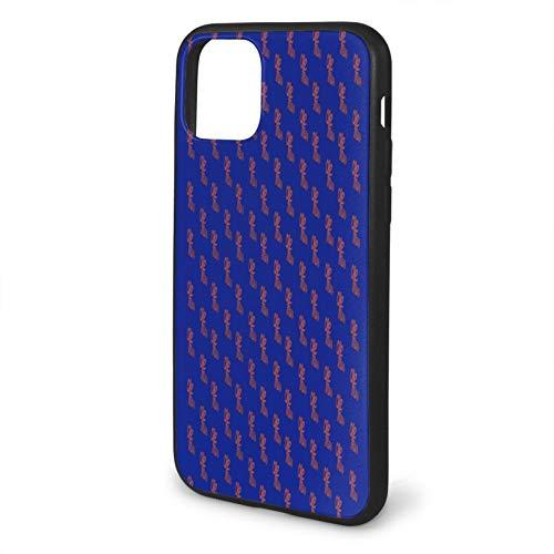 Qdhund iP_hone 11 Case Tpu+ Selected importado respetuoso con el medio ambiente PC Materiales Personalizado Teléfono Case Azul La Palabra iP_hone 11 Pro Max-6.5 iP_hone 11 Case Adecuado para 11 Pro,