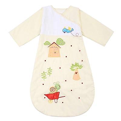 Happy Cherry - Saco de Bebés Niños de Dormir Larga Manga Manta de Acolchado Algodón - Caracol Amarillo/Becerro Azul/Gato Azul - 6 meses-2 años / 1-5 años / 3-6 años