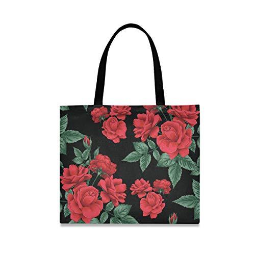 Bolsa de lona para mujer, grande, reutilizable, con bolsillo interior, para ir al gimnasio, playa, viajes, al aire libre