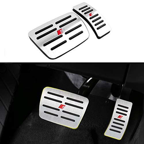 Moonlinks for Audi A4 A5 A6 A7 A8 Q5 SQ5 Q7/Porsche Macan Pedal Covers, Anti-Slip Aluminium Alloy Gas and Brake Pedal Cover Set(a Set of 2)