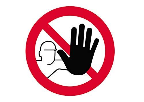 Premium Aufkleber Kein Zutritt für Unbefugte Hinweis Betreten verboten Schild Witterungs- und UV-Beständig (2)