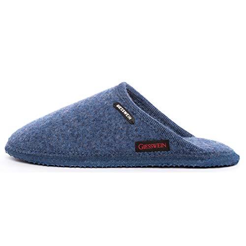Giesswein Tino, Pantoffeln Unisex - Erwachsene, Blau, 43 EU