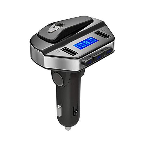 CHAO Auto Bluetooth FM-zender met oortelefoon, handsfree functie, ondersteuning voor USB-schijven, draagbaar, eenvoudig te bedienen, helder, geschikt voor binnen en buiten