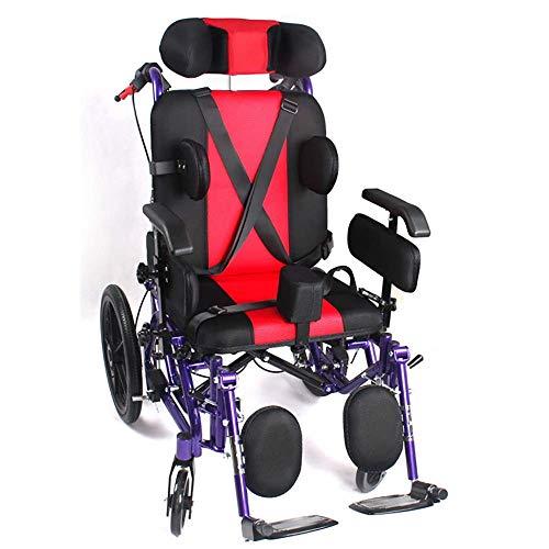 QNJM Ältere Leichte Manuelle Rollstühle - Faltbare Zusätzliche Transportrollstühle - Faltbare Selbstfahrende Rollstuhlmobilität (Color : Red)