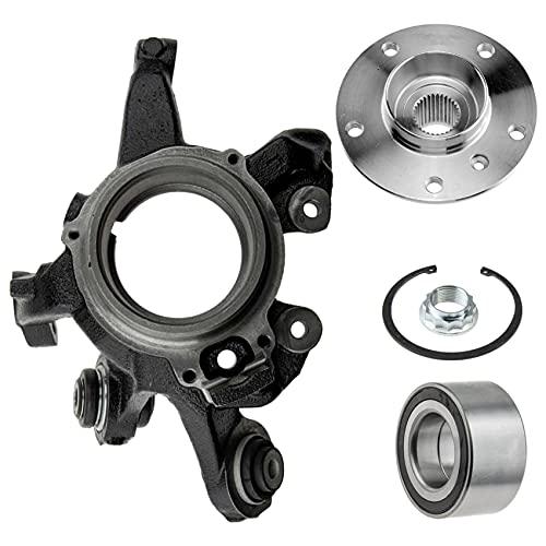 1 manguito de eje, 1 cojinete de rueda, anillo sensor ABS, 1 buje de rueda de eje trasero derecho.