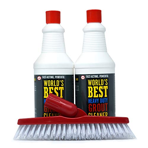 Heavy Duty Tile Grout Cleaner - Clean up To 500 Square Feet of Tile - Free Grout Brush - Safe for All Ceramic and Porcelain Tile