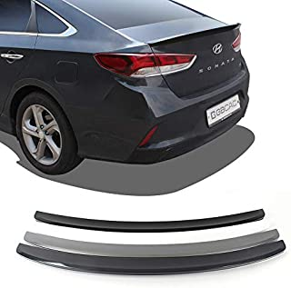 GUBIN Rear Wing ABS Spoiler 5 Colors Painted for Hyundai Sonata 2018 2019 (Midnight Black)