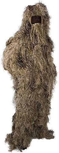 normani Tarnanzug, Ghillie Suit, bestehend aus Jacke, Hose, Gewehr- und Kopfbedeckung inkl Tragetasche Farbe Wüstentarn Größe M/L