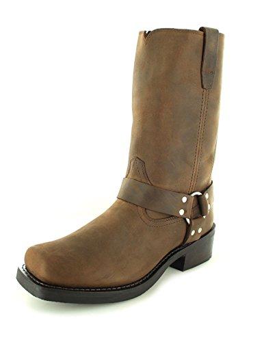 Durango Boots Harness DB594 D Brown/Herren Bikerstiefel Braun/Motorradstiefel/Biker Boots, Groesse:50 (15 US)
