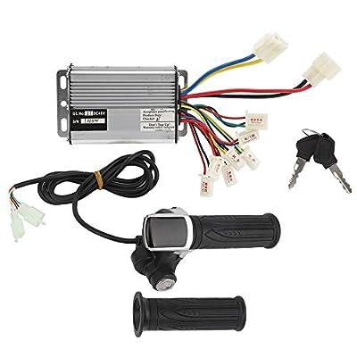 Alomejor1 48V 1000W E-Bike Controller und Gasmenge Gasgriff mit Verriegelung Regler Zubehör für Elektrofahrräder Elektrische Dreiräder Elektroroller