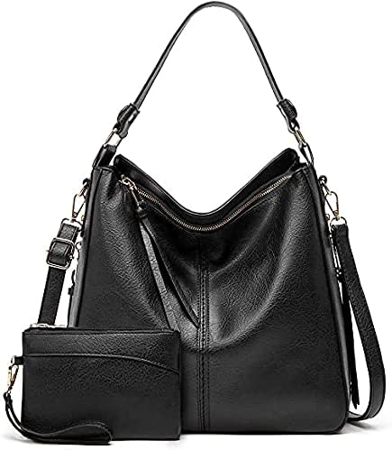 Hobo Bags For Women,Large Capacity Top-handle Bags,Handbags and Crossbody Shoulder Bags with Small Purse Set 2PCS
