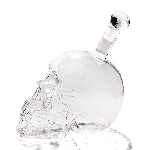 125ML 350ML 550ML 1000ML Vodka Bottle Skull Bottiglie di Vino Creativo Gotico Vodka Decanter Vetro bottiglione (Color : 1000ml)
